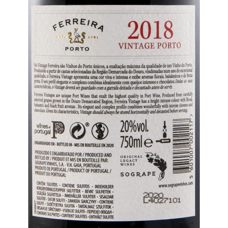 PORTO FERREIRA VINTAGE 2018 CX MADEIRA